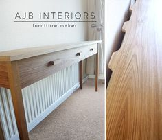 Console Table Over Radiator In Hall Diy In 2019 Pinterest