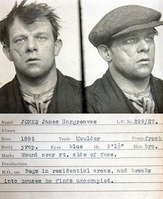 1930s criminal mugshots...I Love that old mugshots show them with hats on.