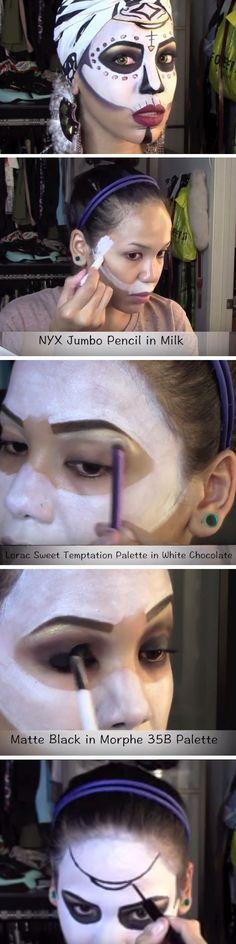 Voodoo Queen | Click Pic for 26 DIY Halloween Makeup Ideas for Women | DIY Halloween Dress Up Ideas for Adults