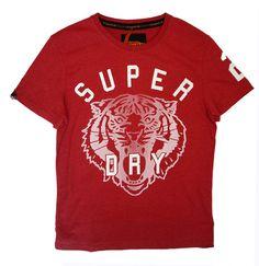 Superdry Mens Big Cat Tee - Red Marl – Moyheeland Traders