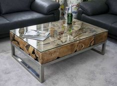 70 New Round Wood and Glass Coffee Table 2019