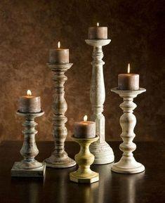 Candlestick /& Votive Tealight Holder Set ~ Petrol Blue or Slate Grey ~ Hygge