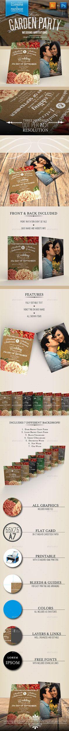 Rustic Garden Party Wedding Invitations - Weddings Cards & Invites