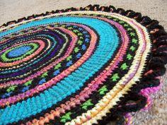 Custom Crochet Rug Reversible Round Yarn Crochet by Margaret B ...