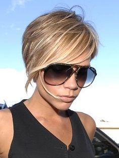 Beautiful blonde highlights with caramel background....LOVE the color!