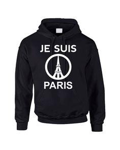 JE SUIS PARIS Eiffel tower womens Hoodies