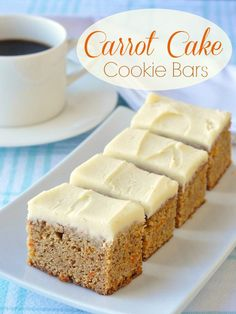 These Carrot Cake Cookie Bars are inspired by a cross between the classic dessert cake and blondies. Soft & satisfying, these little treats freeze well too.