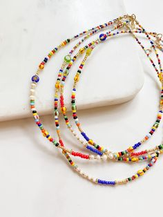 All AGUA SANTA pieces are handcrafted with quality and expertise. All gold is plated in natural stones and baroque pearls are each unique and one of a kind. Seed Bead Jewelry, Cute Jewelry, Diy Jewelry, Jewelery, Jewelry Necklaces, Jewelry Design, Jewelry Making, Beaded Bracelets, Beading Jewelry