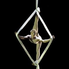 Aerial silks Diamond - Oooh, this is interesting! I 'think' I understand how he got into this...