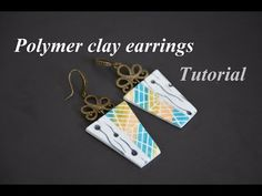 polymer clay earrings with LUCY CLAY Stencils FIMO tutorial серьги из полимерной глины Ohrringe DIY - YouTube Fimo Tutorial, Earring Tutorial, Clay Tutorials, Design Tutorials, Clay Videos, Clay Tools, Metal Clay Jewelry, Precious Metal Clay, Polymer Clay Earrings