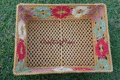 Basket Medium size Macrame Rectangular by CraftingMode on Etsy, $39.00