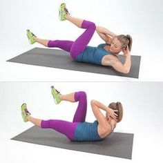 Switch up your usual core routine and try this Bicycle Abs move to target your lower abs.Switch up your usual core routine and try this Bicycle Abs move to target your lower abs. Tabata Workouts, Lower Ab Workouts, Easy Workouts, Ab Exercises, Weight Exercises, Ab Moves, Fitness Exercises, No Equipment Ab Workout, Effective Ab Workouts