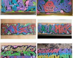 Personalised Custom Graffiti Name Wall Art Stickers Decor For - Graffiti custom vinyl stickers