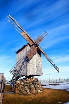 Angla windmill, Saaremaa island, Estonia