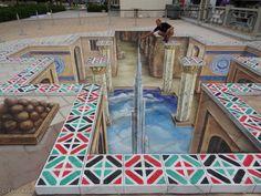 3D streetart Abu Dhabi - Leon Keer