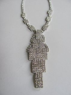 Brilliant Large Crystal Cut Rhinestone Vintage Necklace-amazing & perfect condition!!! A real Show Stopper!!  @ $150.00