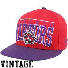 New Era Toronto Raptors Red-Purple 9FIFTY Vintage Le Arch Snapback Adjustable Hat