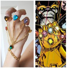 BACKORDER -- Infinity Gauntlet Handchain -- The Avengers Inspired -- Marvel Inspired -- Thanos -- Infinity Gems -- Cosplay -- ORIGINAL