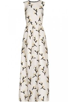 Pin for Later: Perfect Maxi Dresses to Wear to Summer Weddings Tory Burch Taya Embroidered Organza Maxi Dress Tory Burch Taya Embroidered Organza Maxi Dress originally Best Maxi Dresses, High Fashion Dresses, White Maxi Dresses, Summer Dresses, Fitted Dresses, White Embroidered Dress, White Embroidery, Embroidery Dress, White Fitted Dress