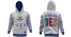 Order of the Eastern Star OES Hoodie- White - Brothers and Sisters' Greek Store