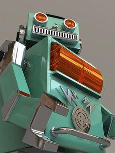 Vintage Robots, Retro Robot, I Robot, Robot Art, Vintage Toys, 1950s Toys, Build A Robot, Toys In The Attic, Space Toys
