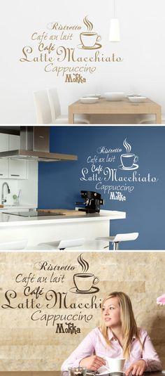 Luxury Caf Komposition Wandtattoo