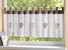 Záves na okno Srdiečka Valance Curtains, Sweet Home, Shabby, Shower, Bathroom, Retro, Vintage, Home Decor, Lavender