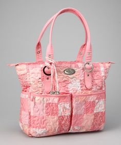 Take a look at this Pink Passion Elaina Satchel by Donna Sharp Handbags on #zulily today!