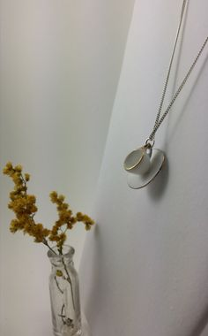 Tea Time Necklace tiny handmade jewellery china cup by WildFernArt