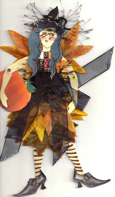 Articulated paper doll witch. Sdstanton