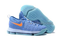 30d14fe0eb60 Latest Nike KD 9 University Blue Orange Nike Kd Shoes