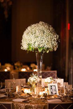 Decoração de casamentos com mosquitinho ou chuva de prata. Abrindo o link tem a diferença entre elas.