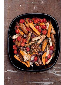 Roasted parsnips & sweet potatoes w caper vinaigrette - Plenty: Vibrant Vegetable Recipes from London's Ottolenghi by Yotam Ottolenghi; Photos: Jonathan Lovekin: Books