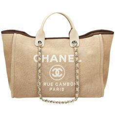 View this item and discover similar for sale at - CHANEL Beige Canvas Large Deauville Tote This CHANEL Large Deauville Tote is in Very Good Pre-Owned Condition accompanied by Chanel Dust Bag, Authenticity Chanel Purse, Chanel Handbags, Tote Handbags, Purses And Handbags, Leather Handbags, Coach Handbags, Chanel Beach, Best Bags, Louis Vuitton Bags