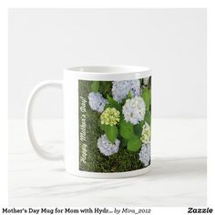 Shop Happy Birthday Mom Mug with Hydrangeas created by Personalize it with photos & text or purchase as is! Hydrangea Colors, Hydrangeas, Happy Birthday Mother, Happy Birthday Cards, Happy Mothers Day, Birthday Mug, 75th Birthday, Mothersday Cards