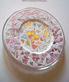 Stained Glass Mosaic Plate Mosaic Trivet by earthmothermosaics, $40.00