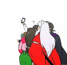 ไปละอินุยาฉาตรู Kagome Higurashi, Miroku, Arte Anime, Anime Manga, Anime Nerd, Anime Life, Inuyasha Fan Art, Inuyasha Funny, Kagome And Inuyasha