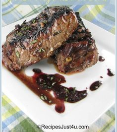 Grilled Rosemary and Balsamic Steak Venison Recipes, Grilling Recipes, Printable Recipe, Cooking Tips, Cooking Recipes, I Grill, Yummy Food, Good Food, Homemade Food