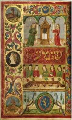 BOOKTRYST: Magnificent 15th C. Illuminated Hebrew Manuscript Estimated