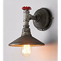 Wandlampen Loft Retro Industrial Style Iron Water Tube Single Head Wall Sconce Lamp Light Bulbs Water Tube, Shops, Loft, Industrial Style, Lamp Light, Small Bathroom, Wall Sconces, Bulbs, Wall Lights