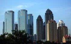 Skyscrapers | Jakarta Skyscrapers, Indonesia Globe Wallpapers