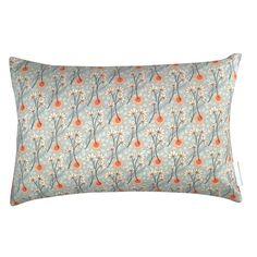 Liberty Cushion Delicate Blue with Orange ornament 50x30 cm
