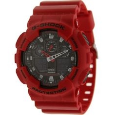 Casio G-Shock G100 Watch (red) GA100B-4ACR - $119.99  (Click on photo to see more ...)
