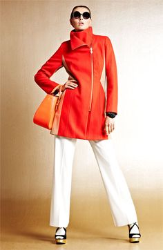 We love color for fall 2013 coats—fall's palette enchants in neon orange, fiery scarlet and more jewel tones. Pair them with neutrals for maximum impact. #Nordstrom