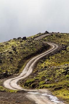 Borgarfjörður road. Iceland