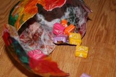 Funny Days From A to Z: Homemade Mini Pinatas  world thinking day project idea
