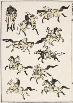 Japanese Drawings, Japanese Prints, Japanese Art, Japan Painting, Ink Painting, Japanese Illustration, Illustration Art, Illustrations, Katsushika Hokusai