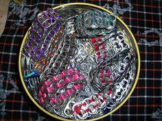 Soda Tab Bracelets - with tutorials!