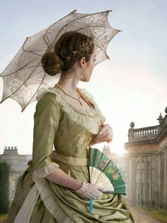© Lee Avison / Trevillion Images - victorian-woman-with-umbrella-by-country-house Victorian Steampunk, Victorian Women, Victorian Era, Victorian Fashion, Victorian Costume, Historical Women, Historical Romance, Historical Clothing, Vintage Dresses