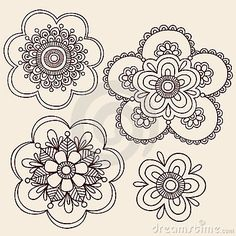 Henna Mehndi Paisley Flower Doodle Design by Blue67, via Dreamstime